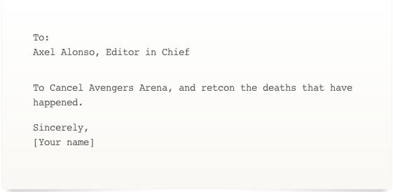 Ban Avengers Arena