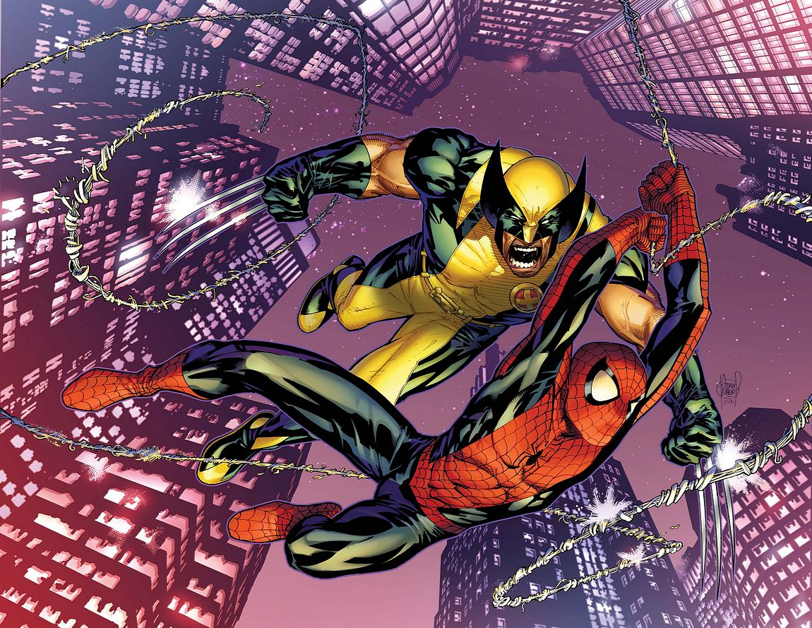 Astonishing Spider-Man et Wolverine dans culte spiderwolv001_col_02