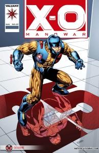 X-O Manowar #25 VARIANT THROWBACK
