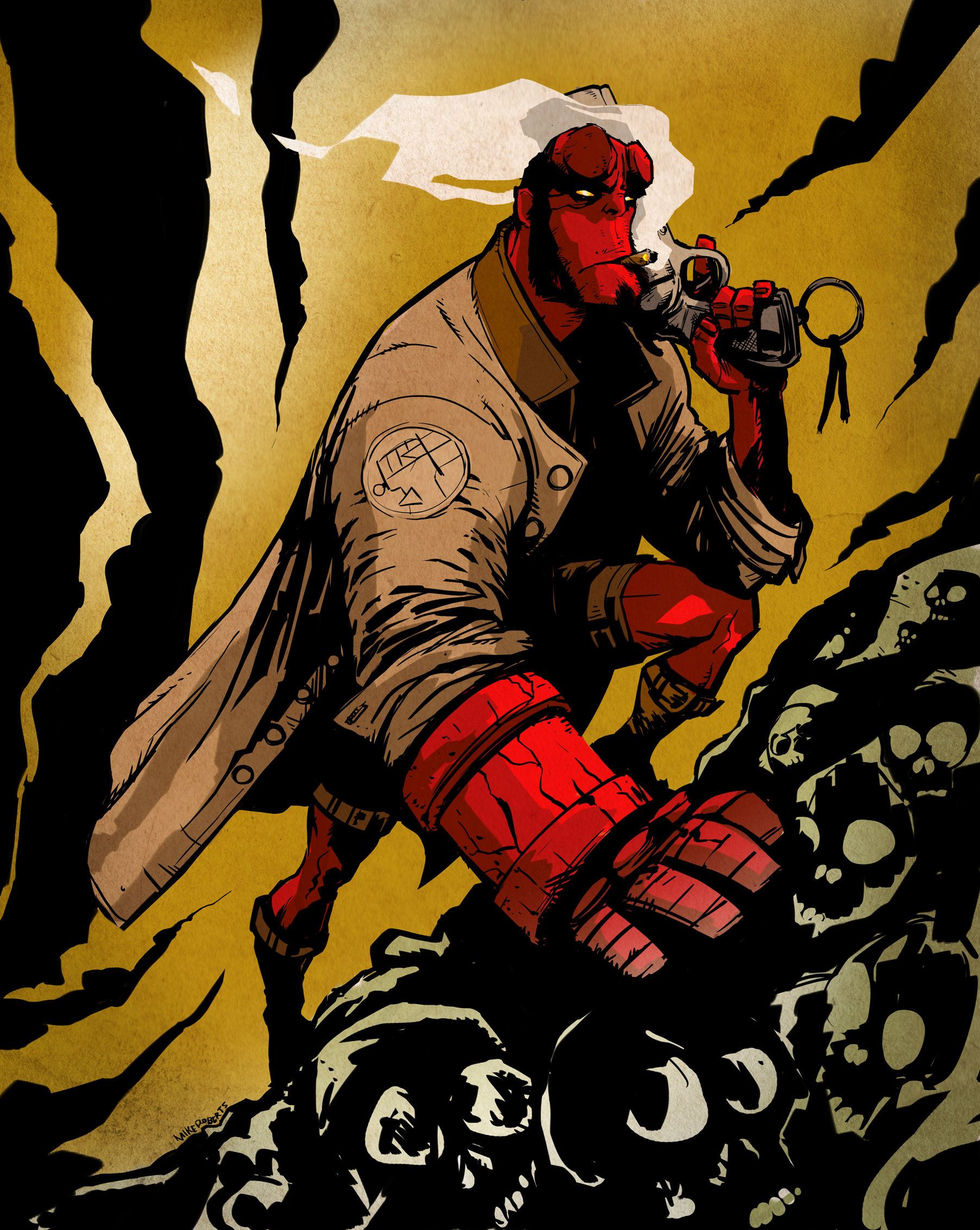 Hellboy by Mike Roberts