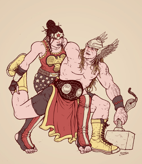 Thor and Wonder Woman Ramon Villalobos