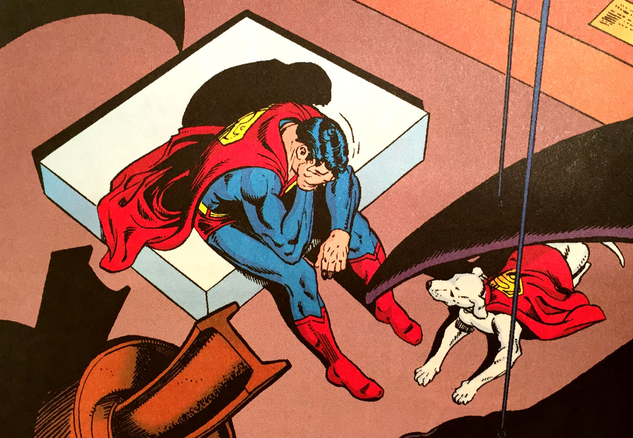 Superman Crying (Superman v1 423) by Swan & Perez