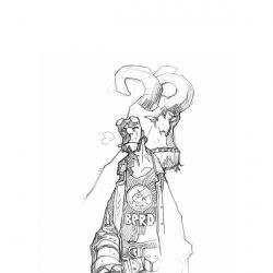 Feature: Hellboy drawing