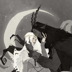 Krampus and Perchta by Abigail Larson featured