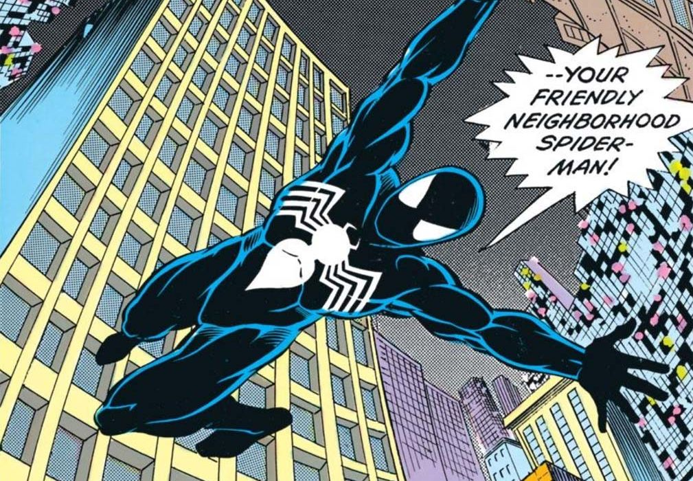 spider-man with symbiote black suit